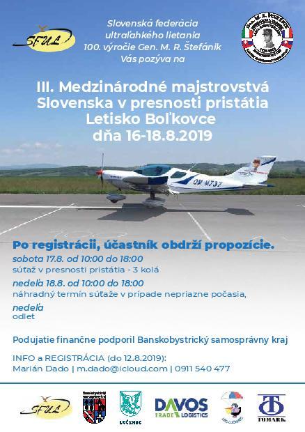 III. Medzinárodné majstrovstvá Slovenska v presnosti pristátia